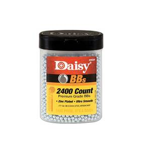Daisy PrecisionMax .177 BB Zinc-Plated Steel 2400/ct Bottle - 4/pk
