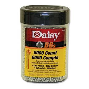Daisy PrecisionMax .177 BB Zinc-Plated Steel 6000/ct Bottle - 4/pk