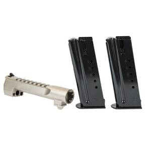 Magnum Research Desert Eagle Combo Pack 6 in Barrel & 2 Magazine .44 Mag 8/rd Satin NIckel
