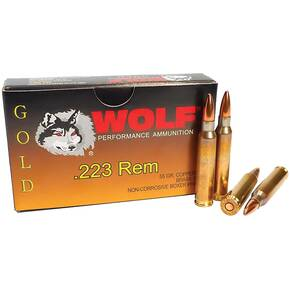 Wolf Gold Rifle Ammunition .223 Rem 55 gr Gold FMJ 20/Box
