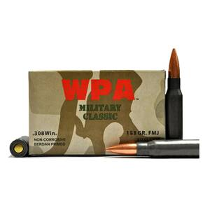 Wolf WPA Military Classic Rifle Ammunition .308 Win 168 gr SP  - 20/box