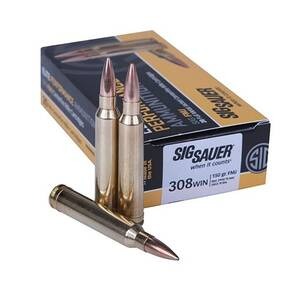 Sig Elite Performance Rifle Ammunition .308 Win 150gr FMJ 2900 fps 20/ct