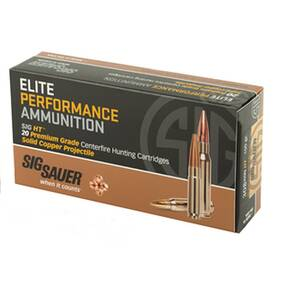 Sig Sauer Elite Hunting Rifle Ammunition 6mm Creedmoor 80 gr Solid Copper 20/ct