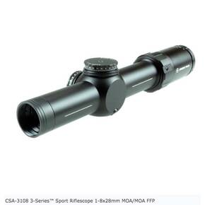 Crimson Trace 3-Series Sport Riflescope 1-8x28mm MOA/MOA FFP with SR2-MOA