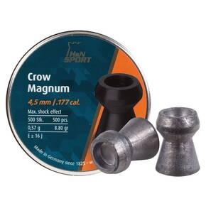 H&N Crow Magnum Hollow Point Airgun Pellets .177 cal 8.80 gr. - per 500