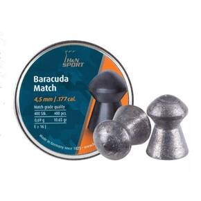 H&N Baracuda Match Airgun Pellets .177 cal. 4.5mm head-size - per 400