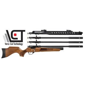 Hatsan Hydra Air Rifle - .25 Turkish Walnut 2-mags / Single-Shot Tray 900 fps