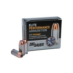 Sig Elite V-Crown Handgun Ammunition .44 SPL 200 gr  800 fps JHP 20/ct