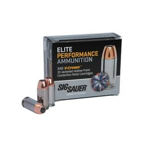 Sig Elite V-Crown Handgun Ammunition  .38 Spl (+P) 125 gr JHP 900 fps 20/ct