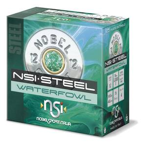 "Nobel Sport Steel Waterfowl Shotshells 12 ga 3"" 1-1/4 oz 1450 fps #4 25/ct"