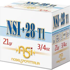 "Nobel NSI 28T1 Shotshell 28 ga 2-3/4"" 3/4 oz 1286 fps #7.5 25/ct"