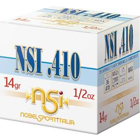 "Noble NSI .410 Shotshell .410 ga 2-1/2"" 1/2 oz. 1240 fps #8 25/ct"