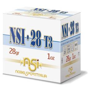 "Nobel Sport 28 T3 Shotshells 28 ga 2-3/4"" 1 oz 1205 fps #8 25/ct"