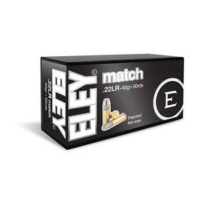 Eley Match Rimfire Ammunition .22 LR 40gr FN 1082 fps 50/ct