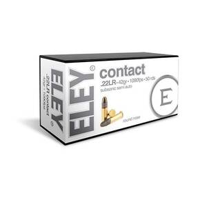 Eley Contact Rimfire Ammunition .22 LR 42gr RN 1090 fps 50/ct