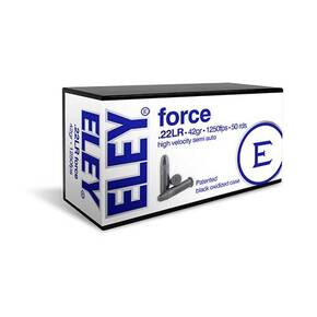 Eley Force Rimfire Ammunition .22 LR 42gr RN 1250 fps 50/ct