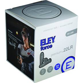 Eley Force Rimfire Ammunition .22 LR 42gr RN 1250 fps 300/ct
