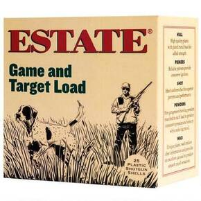 "Estate Cartridge Game & Target Shotshells 12ga 2-3/4"" 3D 1-1/8oz 1200fps #8 25/ct"