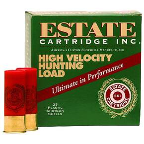 "Estate Cartridge High Velocity Shotshells 12 ga 2-3/4"" 1-1/4oz 1330 fps #8 25/ct"