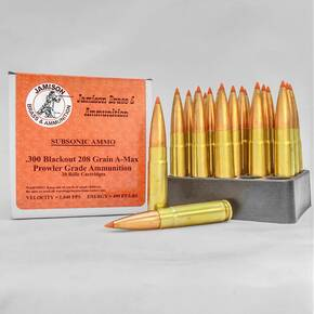 Jamison Rifle Ammunition .300 AAC Blackout 208 gr AMAX 1040 fps 20