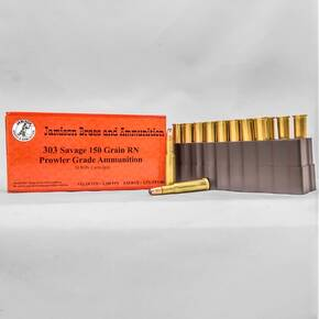 Jamison Rifle Ammunition .303 Savage 150 gr RNFP 2280 fps 20ct