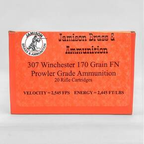 Jamison Handgun Ammunition .307 Win. 170gr FP 2545fps 20/ct