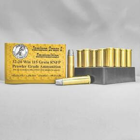 Jamison Rifle Ammunition .32-20 Win 115 gr RNFP 1250 fps 20/ct