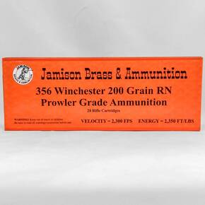 Jamison Handgun Ammunition .356 Win 200gr RN 20/ct