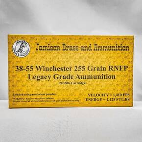 Jamison Rifle Ammunition .38-55 Win 255 gr RNFP 1410 fps 20/ct