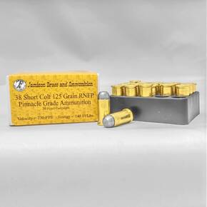 Jamison Handgun Ammunition .38 Short Colt 125 gr RNFP 750 fps 20/ct