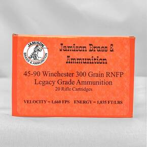 Jamison Handgun Ammunition .45-90 Win. 300gr RNFP 20/ct