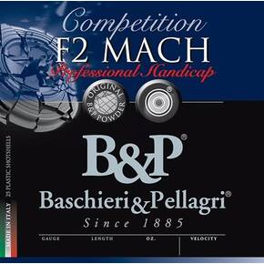 "B&P F2 Mach Professional Handicap Shotshells 12 ga 2-3/4"" 1-1/8 oz 1250 fps #7.5 25/ct"