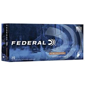 Federal Power Shok Rifle Ammunition .338 Win Mag 225gr SP 2800 fps 20/ct