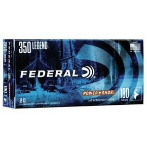 Federal Power-Shok Rifle Ammunition .350 Legend 180 gr SP 2100 fps 20/ct