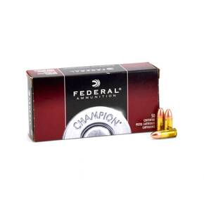 Federal Champion Handgun Ammunition 9mm 115 gr FMJ 100/ct