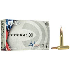 Federal Non-Typical Rifle Ammunition 7mm-08 Rem 150 gr SP 2650 fps 20/ct