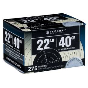 Federal Range & Field Rimfire Ammunition .22 LR 40 gr LRN 1200 fps 275/ct