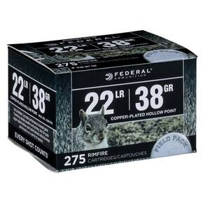 Federal Range & Field Rimfire Ammunition .22 LR 38 gr CPHP 1260 fps 275/ct