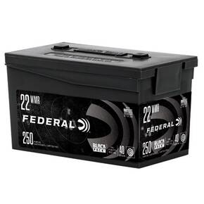 Federal Black Pack Ammunition 22 WMR 40gr FMJ 1880 fps 250/ct