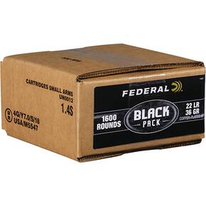 Federal Rimfire Ammunition .22 LR 36 gr CPRN 1260 fps 1600/ct