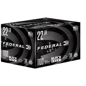 Federal Black Pack Rimfire Ammunition .17 HMR 17gr HP 2530 fps 250/ct