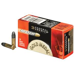 Federal Premium Gold Medal Rimfire Ammunition .22 LR 40 gr SLD 50/box