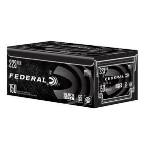 Federal American Eagle Black Pack  .223Rem 55gr FMJ 3240 fps 150/ct