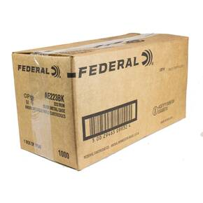 Federal American Eagle .223 Rem 55 gr  Rifle Ammunition-FMJ 3240 fps - 1000/box