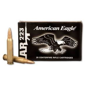 American Eagle Rifle Ammunition .223 Rem FMJ-BT 55gr 3240 fps 20/rd