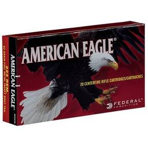 Federal American Eagle Rifle Ammunition .223 Rem 62 gr FMJ 3020 fps 500/ct