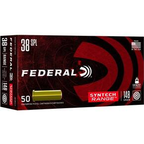 Federal Syntech Range Handgun Ammunition .38 Spl 147 gr TSJWC 50/ct