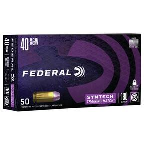 Federal  Syntech Training Handgun Ammunition .40 S&W 180 gr TSJ 1010 fps 50/ct
