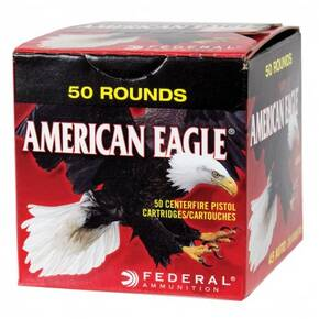 American Eagle Handgun Ammunition 9mm 115 gr FMJ 1180 fps 50/ct