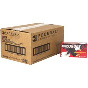 American Eagle Handgun Ammunition 9mm Luger 115 gr FMJ 1180 fps 500/ct